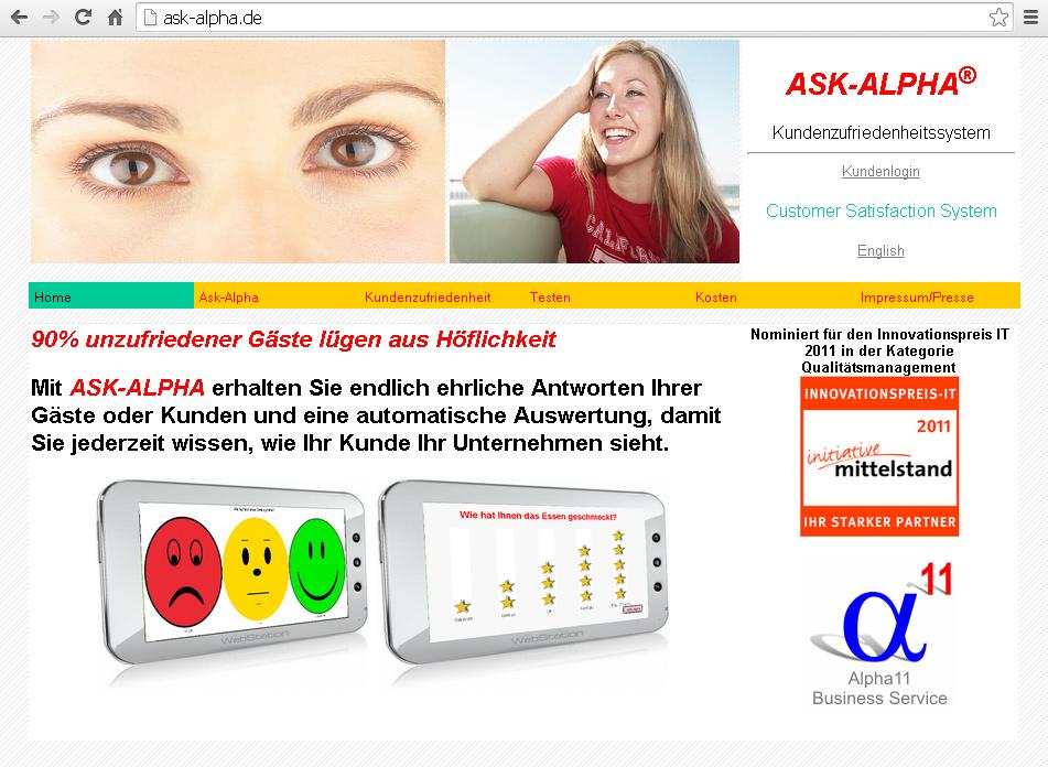ASK-ALPHA Website 2011