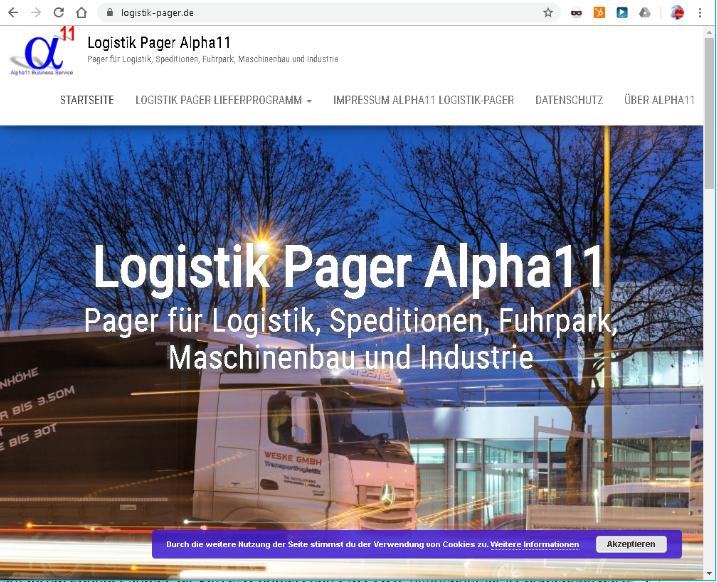 Website Logistik Pager im Jahr 2018 erstellt