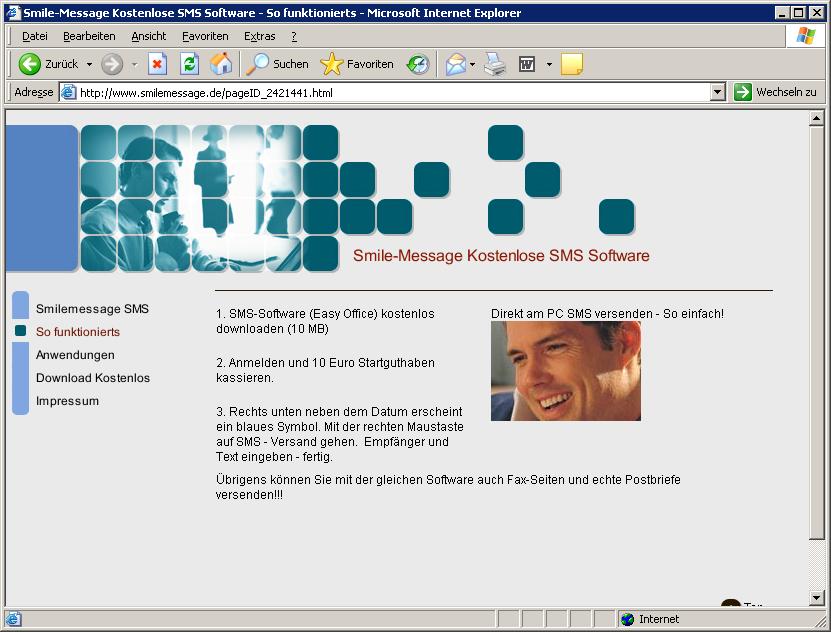 SmileMessage Website 2010