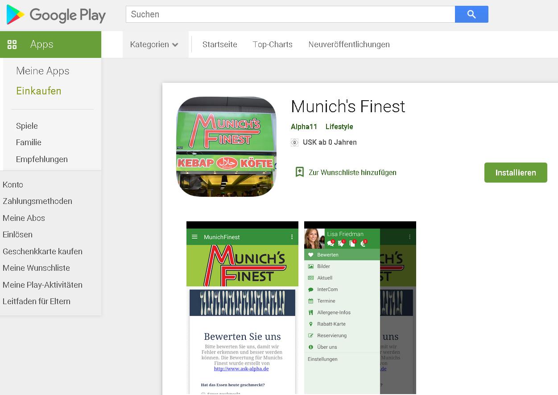 App Munich Finest 2017